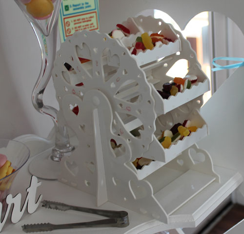 white ferris wheel with sweets