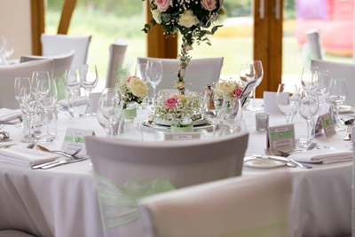 Green themed decorated table