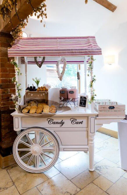 White Vintage Candy Cart