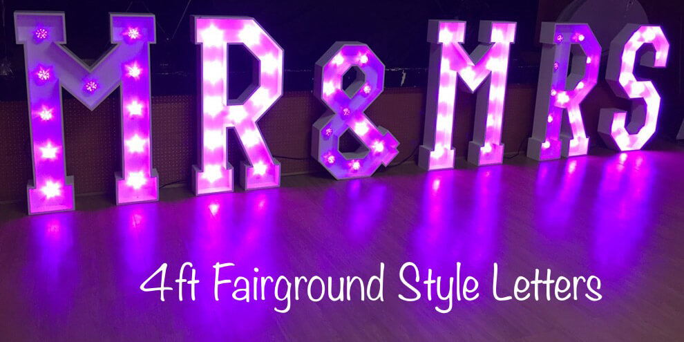4ft LED Mr and Mrs Letters